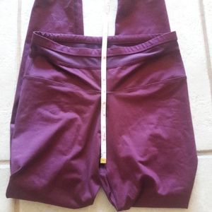 Fabletics high waisted maroon leggings Small